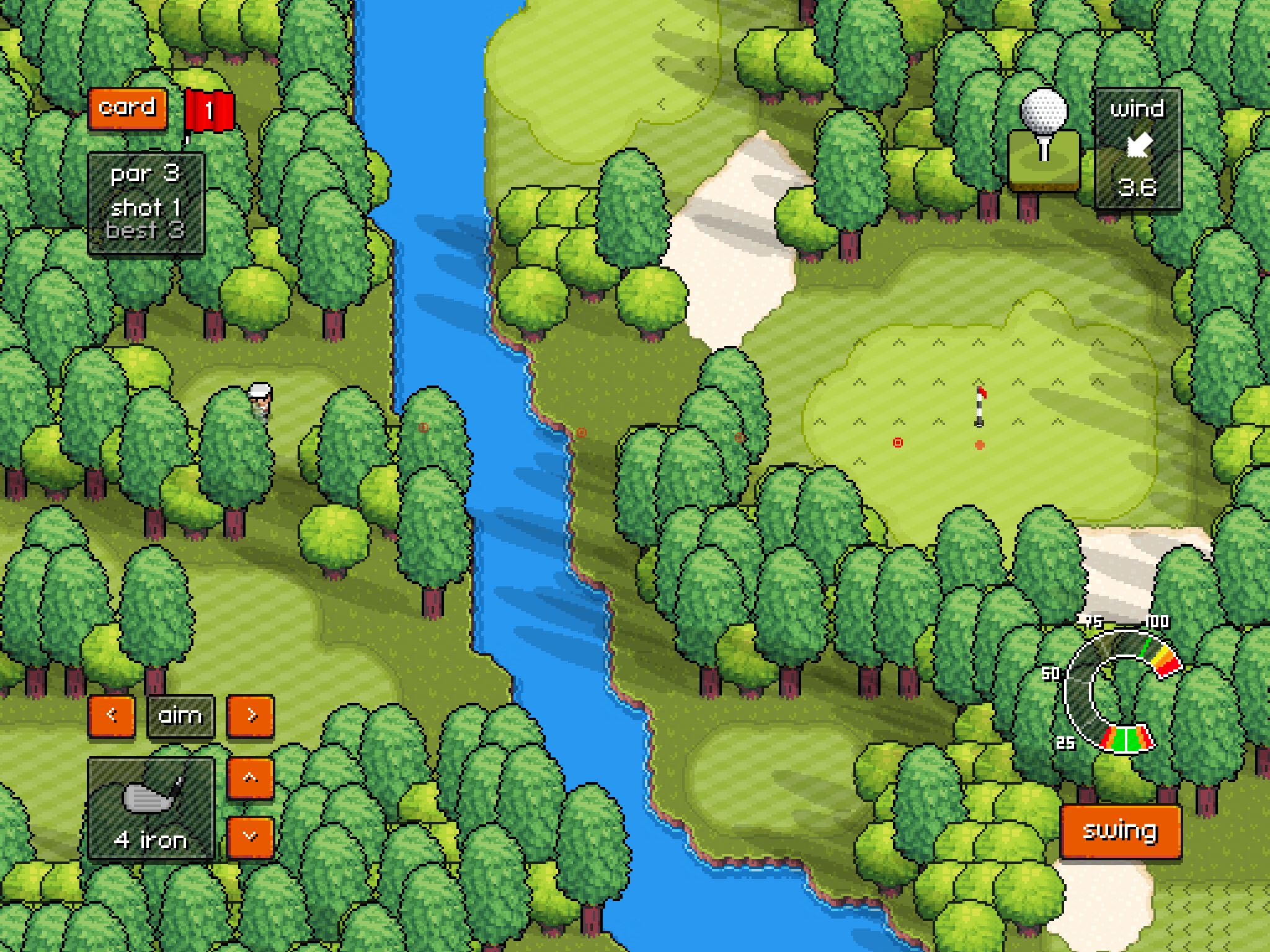 Pixel Pro Golf Brings Entertaining Arcade Golf to iOS Devices Image